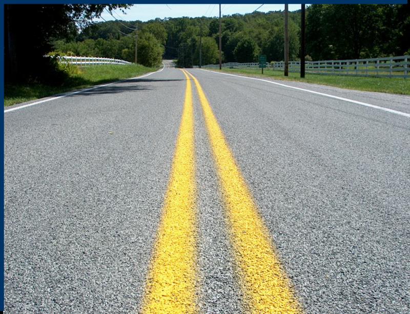 Medium chip seal   2 lane rural highway